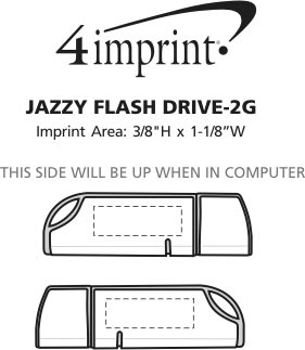 Imprint Area of Jazzy Flash Drive - 2GB