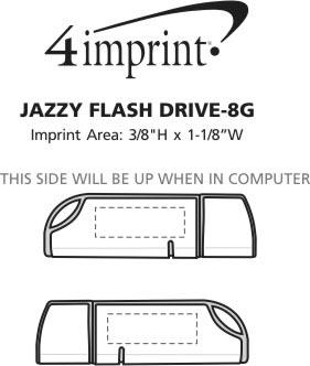 Imprint Area of Jazzy Flash Drive - 8GB
