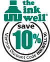 Save 10% with code INKWELL10