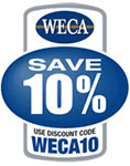 Save 10% with code WECA10