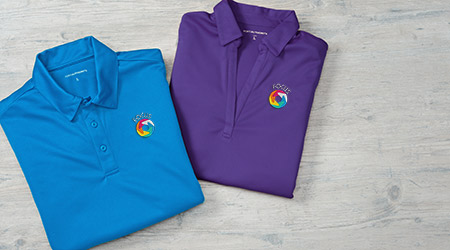 Promotional business apparel products that include polo shirts