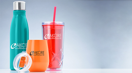 Shop all promotional drinkware products that include aluminium water bottle, wine tumbler and acrylic cups with straw