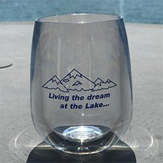 Customer photo of the Stemless Wine Glass