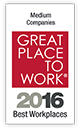 Great Place to work medium workplaces 2016