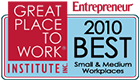 Great Place to work for small and medium workplaces 2010
