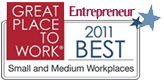 Great Place to work for small and medium workplaces 2011