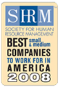 SHRM best small and medium companies to work for in America 2008