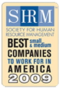 SHRM best small and medium companies to work for in America 2009