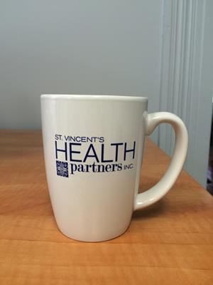 Customer photo from Karen of our Challenger Coffee Mug - White - 11 oz.