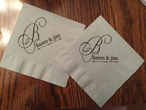 Customer photo from Karen of our Colorware Beverage Napkin - 2-ply - Color - Low Qty