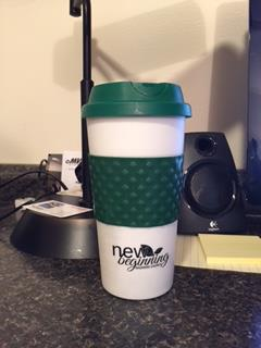 Customer photo from Brian of our Color Banded Classic Coffee Cup - 16 oz.