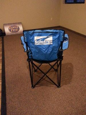 "Customer photo from Courtney of our ""BIG'UN"" Folding Camp Chair"