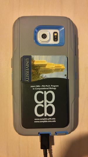 Customer image from Leah of our Adhesive Cell Phone Wallet