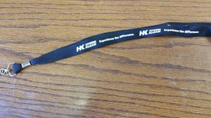 Customer photo from Cathy of our Lanyard with Metal Bulldog Clip - 3/4""