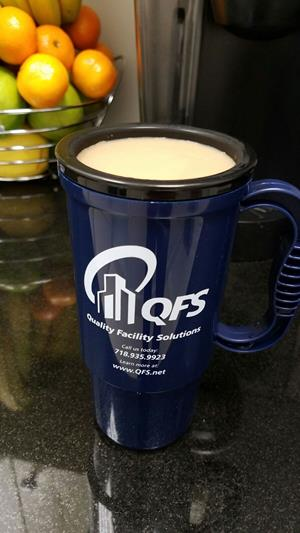 Customer photo from Mo of our Insulated Auto Mug - 16 oz. - Recycled