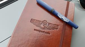 Customer photo from Brandon of our Fabrizio Perfect Bound Journal