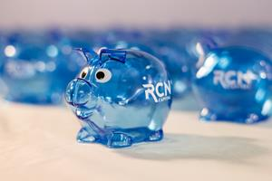 Customer photo from Monique of our Lil' Piggy Bank - Translucent