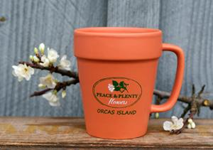 Customer photo from Suzanne of our Flower Pot Mug - 14 oz.