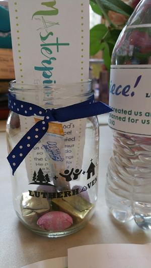 Customer photo from Lauren of our Glass Mason Jar - 16 oz.