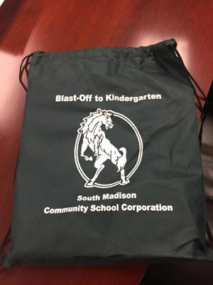 Customer photo from Laura of our Promotional Drawstring Sportpack