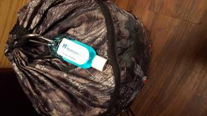 Customer photo from Sherri of our Hand Sanitizer with Carabiner - Tinted