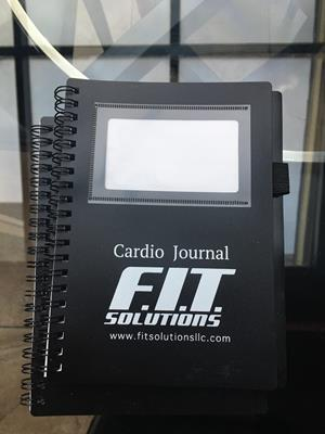 Customer photo from Ilya of our Business Card Notebook with Pen - Opaque
