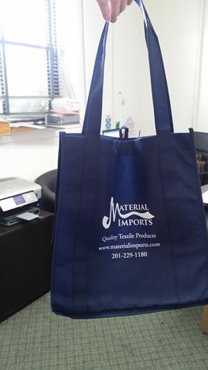 "Customer photo from Shaheryar of our Value Grocery Tote - 13"" x 12"""