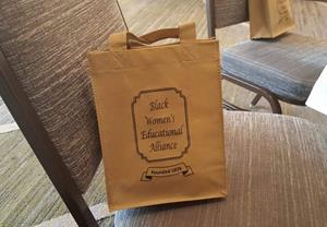 "Customer photo from Margaret of our Celebration Shopping Tote Bag - 10"" x 8"""