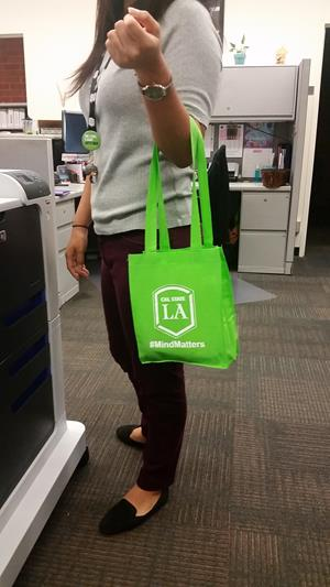 Customer photo from Cynthia of our Mini Elm Tote