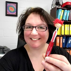 Customer photo from Melissa of our MopTopper Stylus Pen