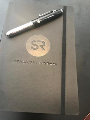 Customer photo from Shannon of our iWrite Stylus Metal Pen with Flashlight - Laser