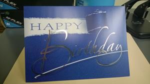 Customer photo from Jennifer of our Birthday Appeal Greeting Cards