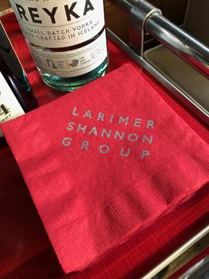 Customer photo from Wendy of our Colorware Beverage Napkin - 2-ply - Color - Low Qty