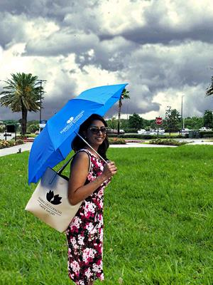 "Customer photo from Keshini of our Economy Auto Opening Umbrella - 42"" Arc"
