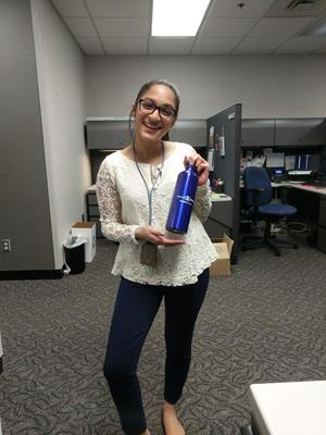 Customer photo from Pooja of our Pacific Aluminum Sport Bottle - 26 oz.