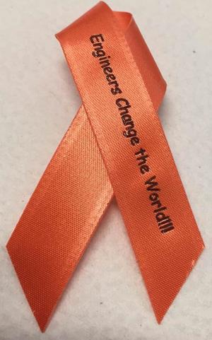 Customer photo from Karen of our Awareness Ribbon with Pin